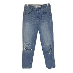 Melville Destroyed Skinny Jeans 27 Button Fly Dist